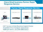 cisco small business partner rapid response service