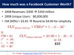 how much was a facebook customer worth