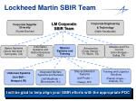 lockheed martin sbir team