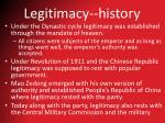 legitimacy history