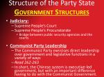 structure of the party state government structures3