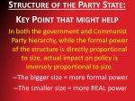 structure of the party state key point that might help