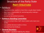 structure of the party state party structures3