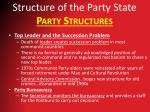 structure of the party state party structures4