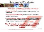 services in it market expectations
