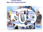 vision basis new user requirements