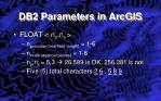 db2 parameters in arcgis