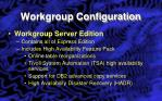 workgroup configuration