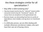 are these strategies similar for all specialization