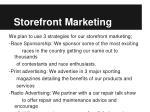 storefront marketing