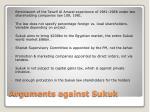 arguments against sukuk