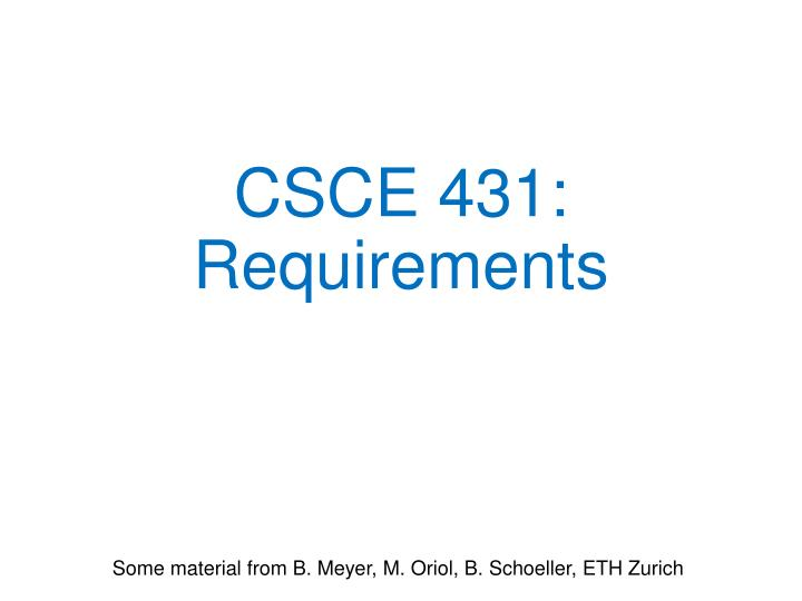 csce 431 requirements n.