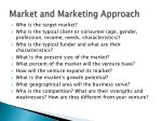 market and marketing approach