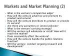 markets and market planning 2