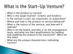 what is the start up venture