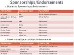 sponsorships endorsements
