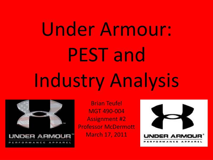 under armour pest and industry analysis n.