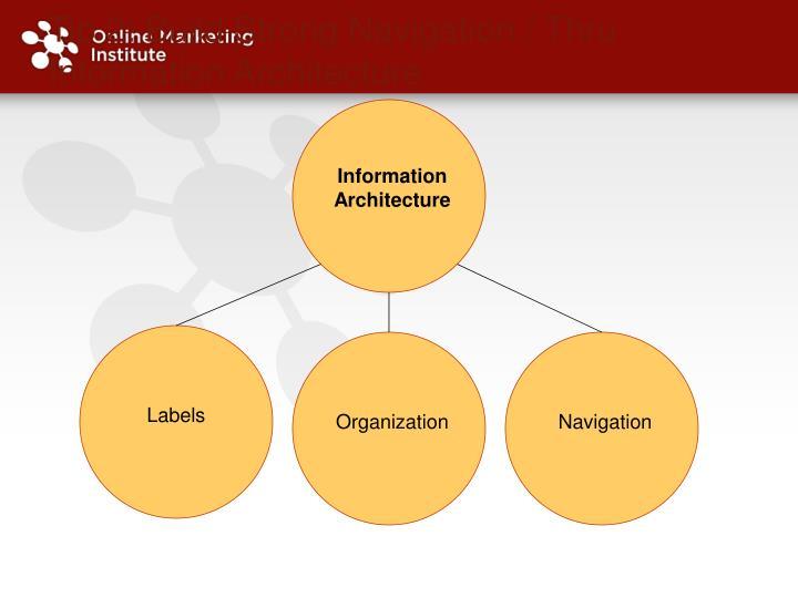 Tip 2: Build Strong Navigation / Thru Information Architecture