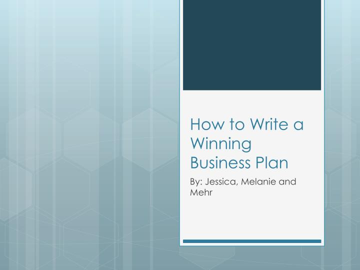 how to write a winning business plan n.
