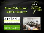about telerik and telerik academy