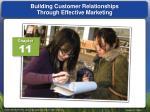 building customer relationships through effective marketing