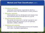 markets and their classification cont