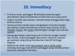 10 immediacy