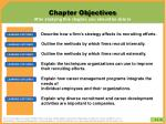 chapter objectives after studying this chapter you should be able to