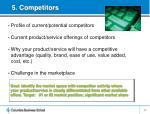 5 competitors