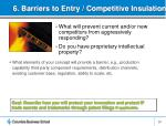 6 barriers to entry competitive insulation