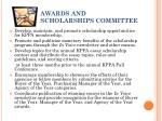 awards and scholarships committee