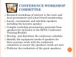 conference workshop committee