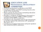education and professional development committee