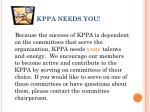 kppa needs you