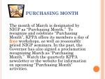 purchasing month