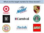 what are the target markets for these brands