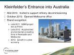 kleinfelder s entrance into australia
