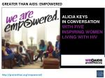 greater than aids empowered