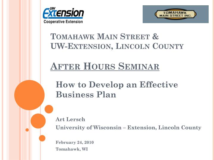 tomahawk main street uw extension lincoln county after hours seminar n.