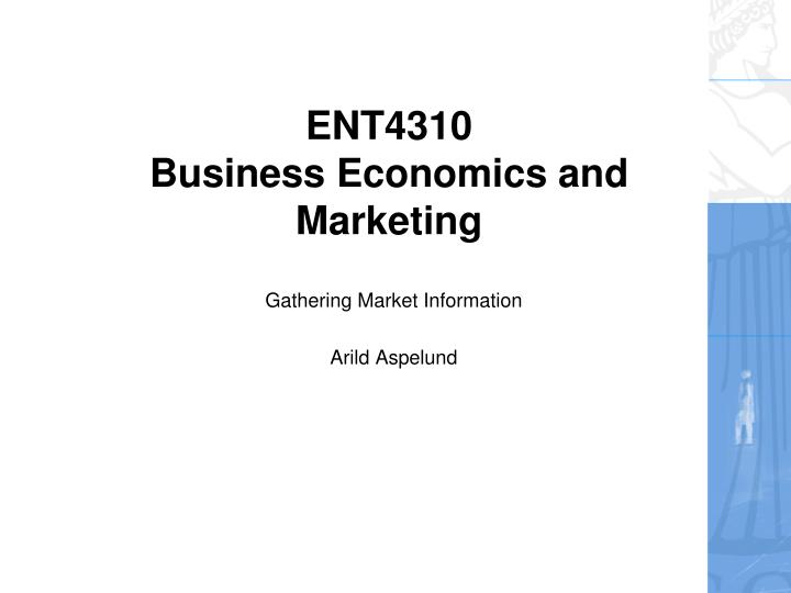 ent4310 business economics and marketing n.
