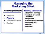 managing the marketing effort1