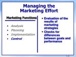 managing the marketing effort3