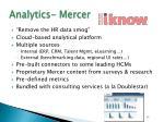 analytics mercer