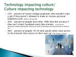 technology impacting culture culture impacting technology