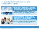it transformation challenges and education solutions