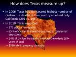 how does texas measure up