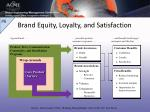 brand equity loyalty and satisfaction