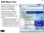 sap menu tree