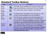 standard toolbar buttons