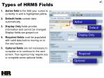 types of hrms fields2